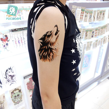 New Arrival 2017 Big Horror Wolf Tiger Arm Tattoo Designs Waterproof Body Temporary Fake Large Tatoo Sticker Taty For Men Women