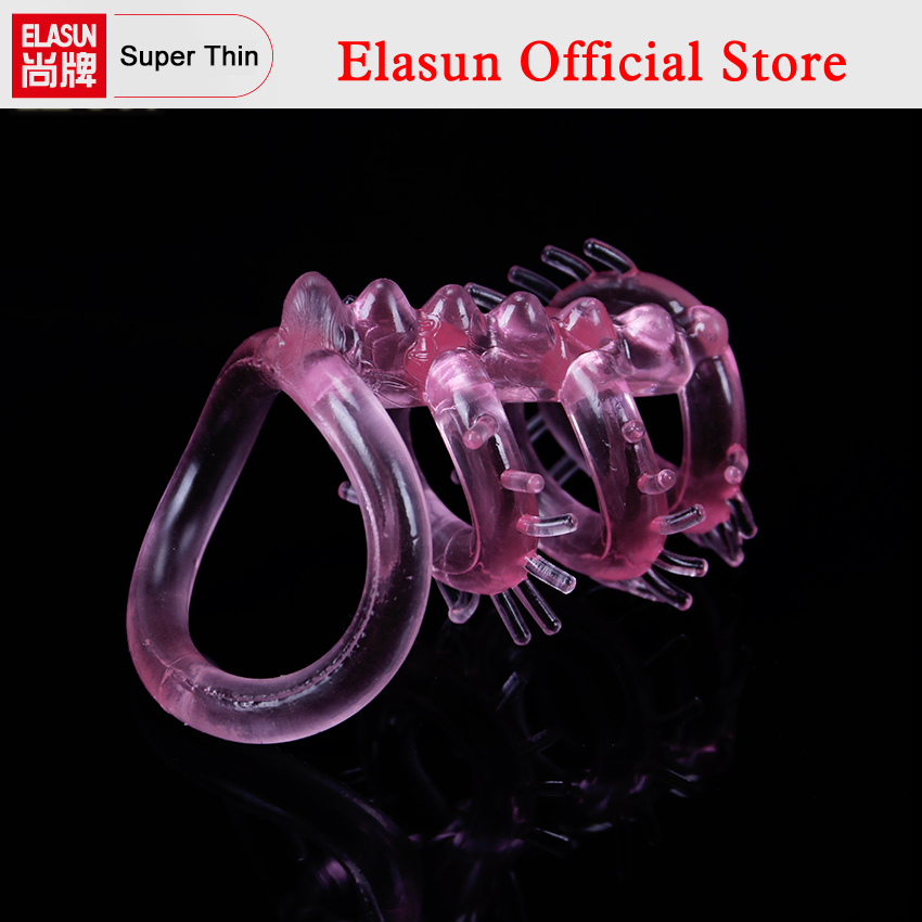 1PC Triple Cock Ring Time Delay Keel Penis Rings Sleeve for Men Sex Toys Adult Products for Couple все цены