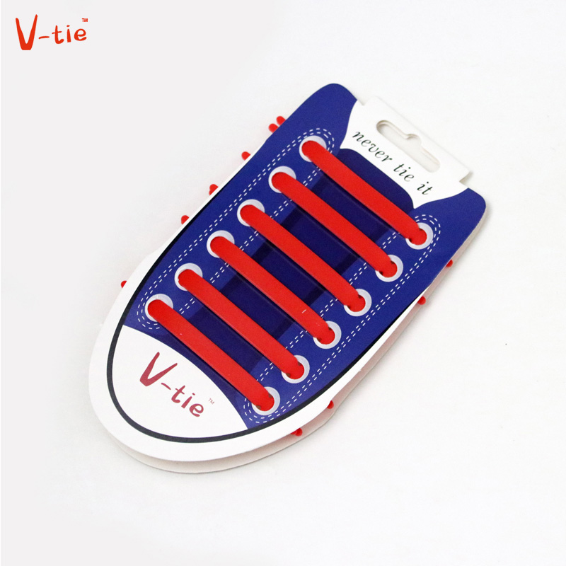 Suit 1-50 Sets Solid Red Creative Flexible arrow-shaped Creative Silicone No-Tie Shoelaces Fashionable Elastic Trainers Laces fashionable red slender twill pattern 7cm width tie for men