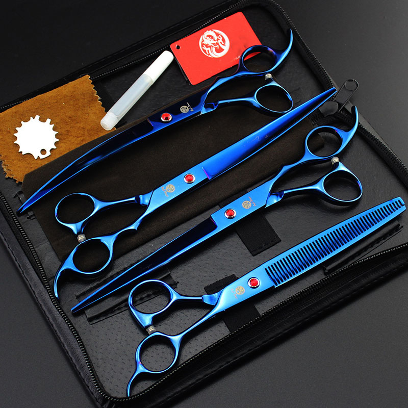 8inch Professional Tools Kit Pet Dog Grooming Scissors Set Straight & Curved & Thinning Shears Animals Hair Cutting все цены