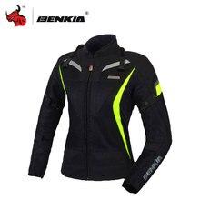 BENKIA Carrera de Las Mujeres Material de la Rejilla de Ropa Chaquetas de Carreras de Motocross Chaqueta De Moto De Carreras Con Protector Guarda