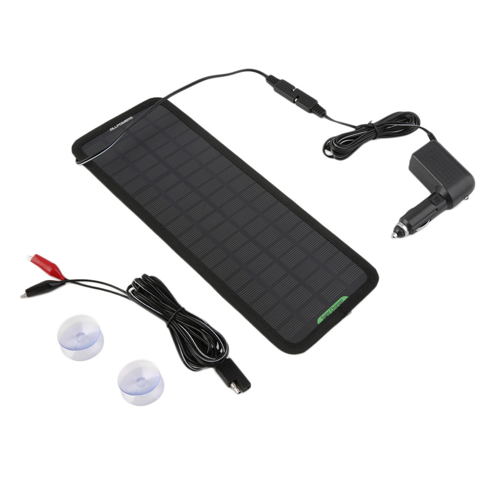 18V 10W IP65 waterproof Multi Purpose Portable Solar Panel Battery Charger for Car RV Car Battery