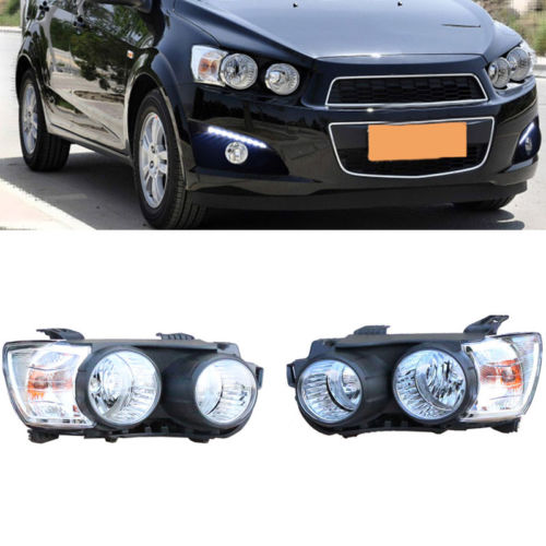 Right & Left Composite Headlight Lamp Assembly Set OE Fit For Chevrolet Aveo right combination headlight assembly for lifan s4121200