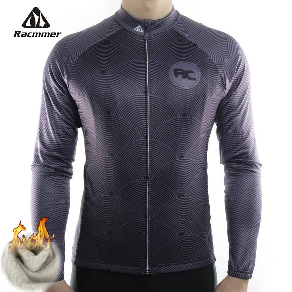 Racmmer 2019 Cycling Jersey Winter Long Bike Bicycle Thermal Fleece Ropa Roupa De Ciclismo Invierno Hombre Mtb Clothing #ZR-11