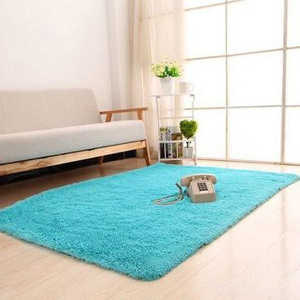 Large Size Fluffy Rugs Anti-Skiding Shaggy Area Rug Dining Room Carpet Floor Mats White shaggy rugs shag rugs bathroom