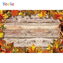 Yeele Wooden Wallpaper Red Maple Leaves Tablecloth Photography Backdrops Personalized Photographic Backgrounds For Photo Studio