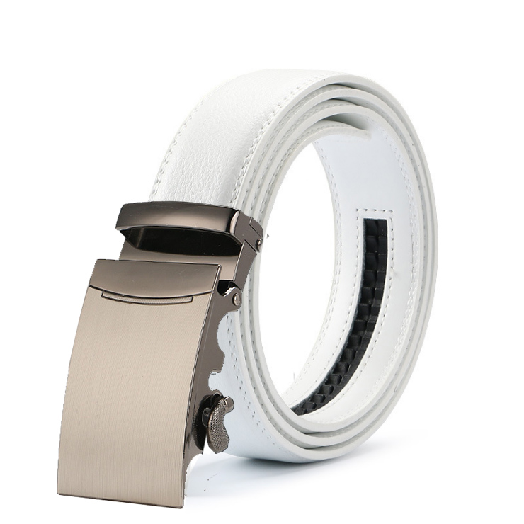 New Arrival Luxury Brand Mens white   Belt   Real Genuine Leather Designer High Quality Automatic Buckle Male   Belt   For Men Jeans