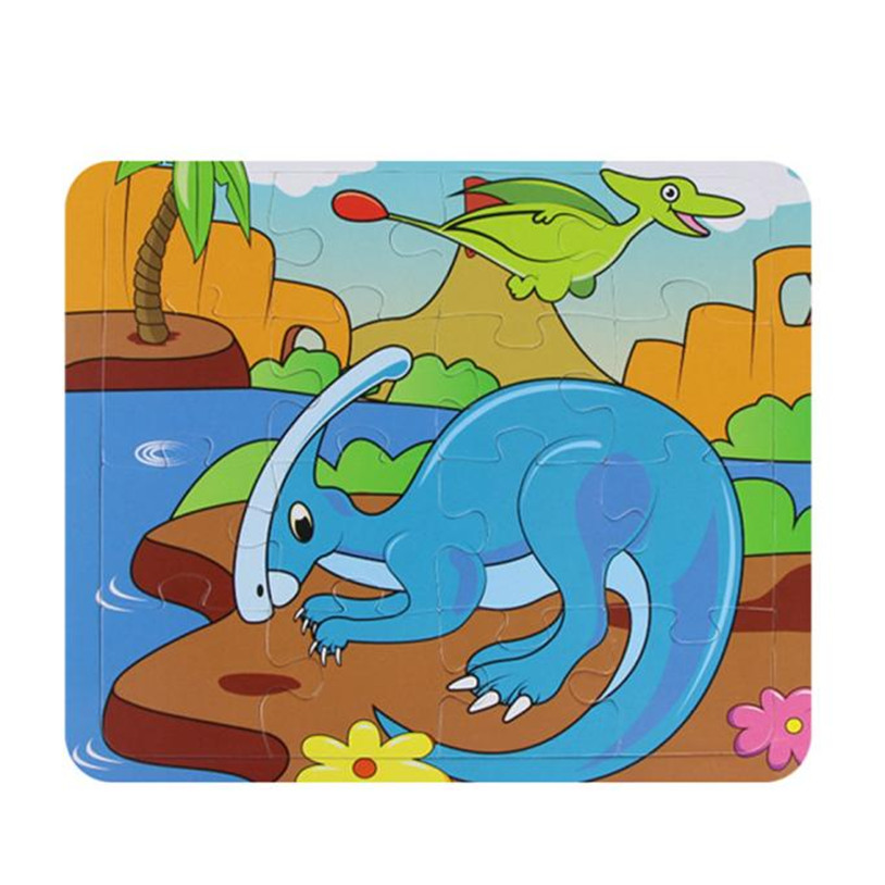 Kids Education Magic Water Drawing Painting Board And Learning Puzzles Toys Wooden Animal Jigsaw Toys New High Quality May 26