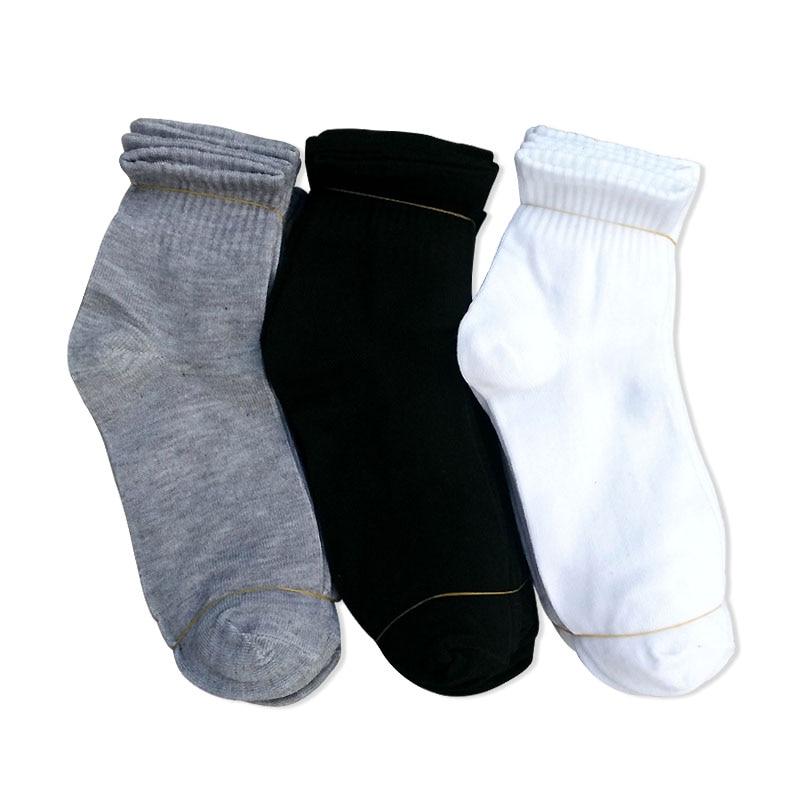3 Pairs New Spring Autumn Men Sock Cotton Crew Casual Socks For Male White Black Gray Size EU 39-44