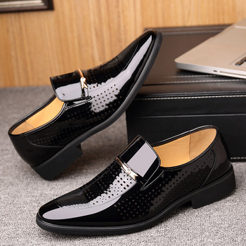 Formal Mens Shoes | Merkmak Summer Autumn Pointed Toe Mens Dress Shoes 2019 Breathable Black Wedding Shoes Formal Suit Office Shoes Man Leather
