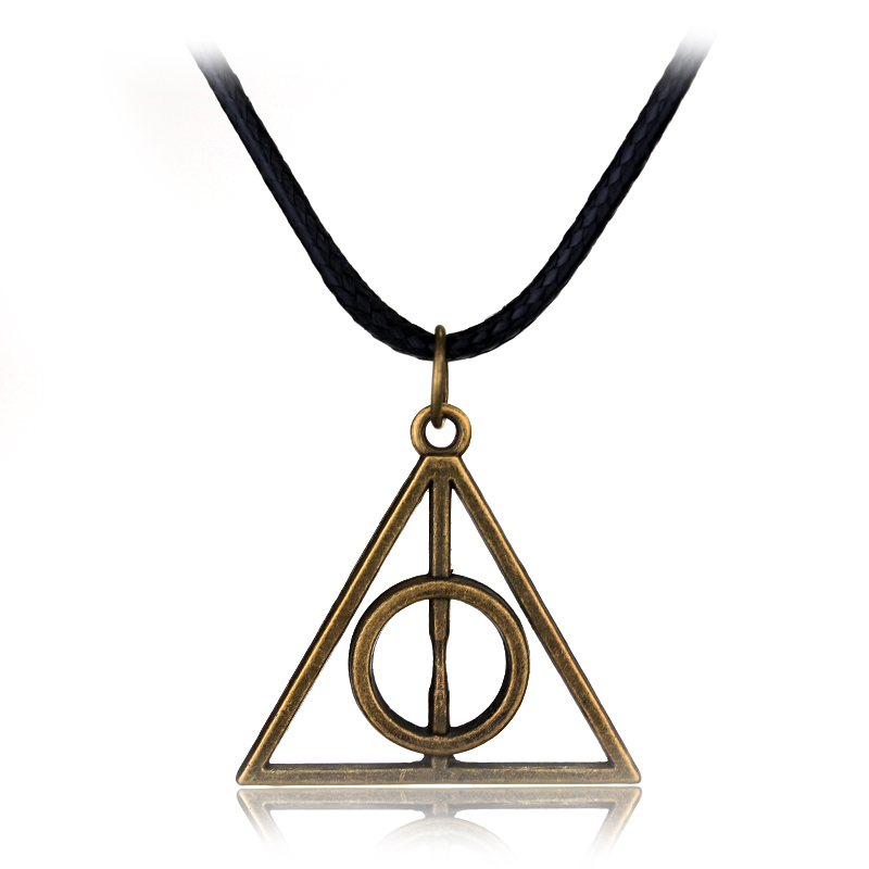Classic jewelry the Deathly Hallows necklace pendant long chain necklace fans Favourite gift 2 Colors