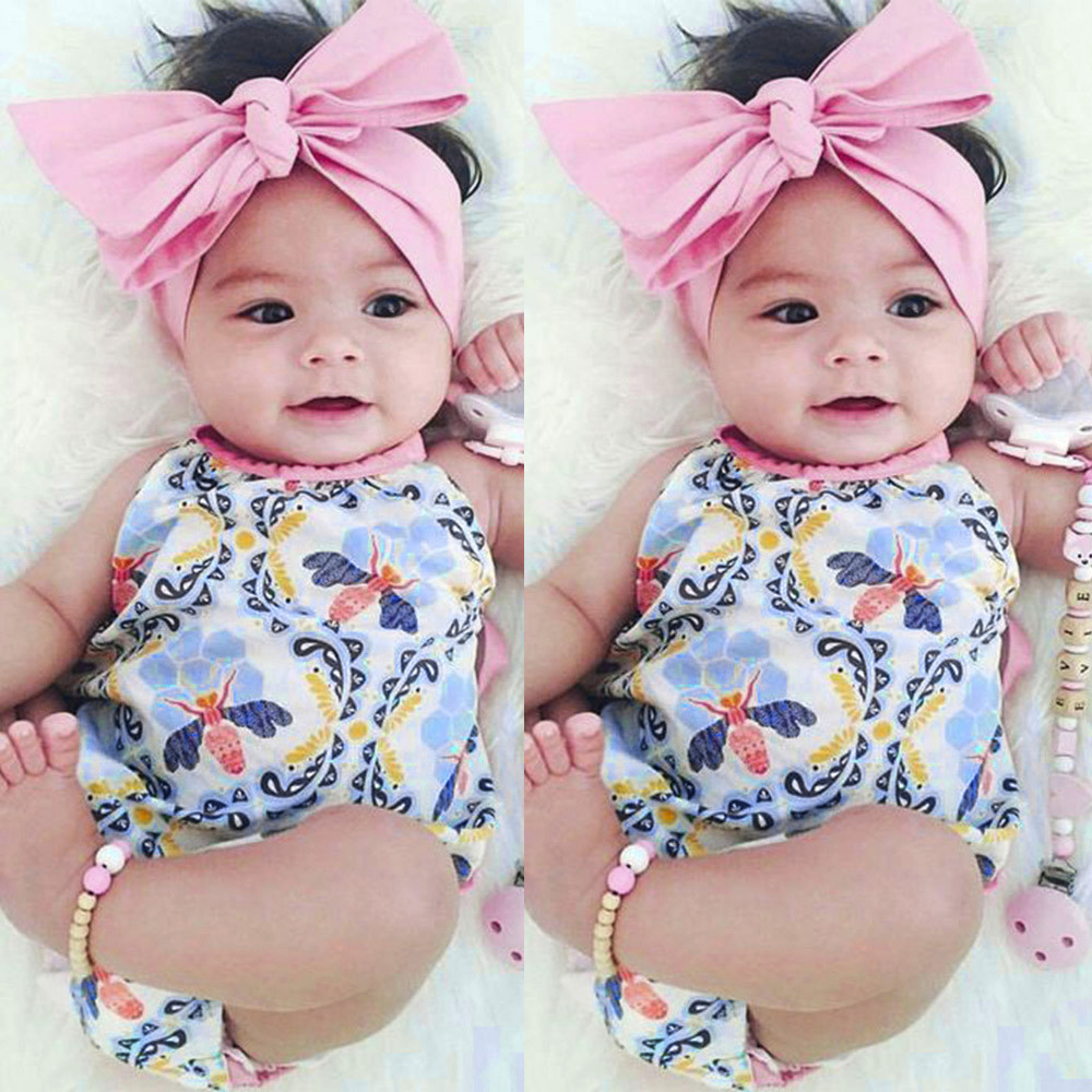 2Pcs Child Women Toddler Floral Toddler Jumpsuit Romper+Headband Set Garments Autumn Summer season sleeve clothes youngsters New spring & a HTB16qqQeL5TBuNjSspcq6znGFXad