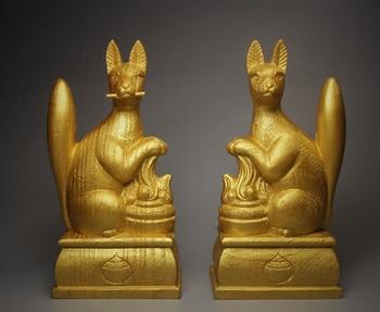 Fushimi Inari,defensive fox, the giji,big black genus,Lucky messenger Buddha statue budas tibet boedha statues for decoration