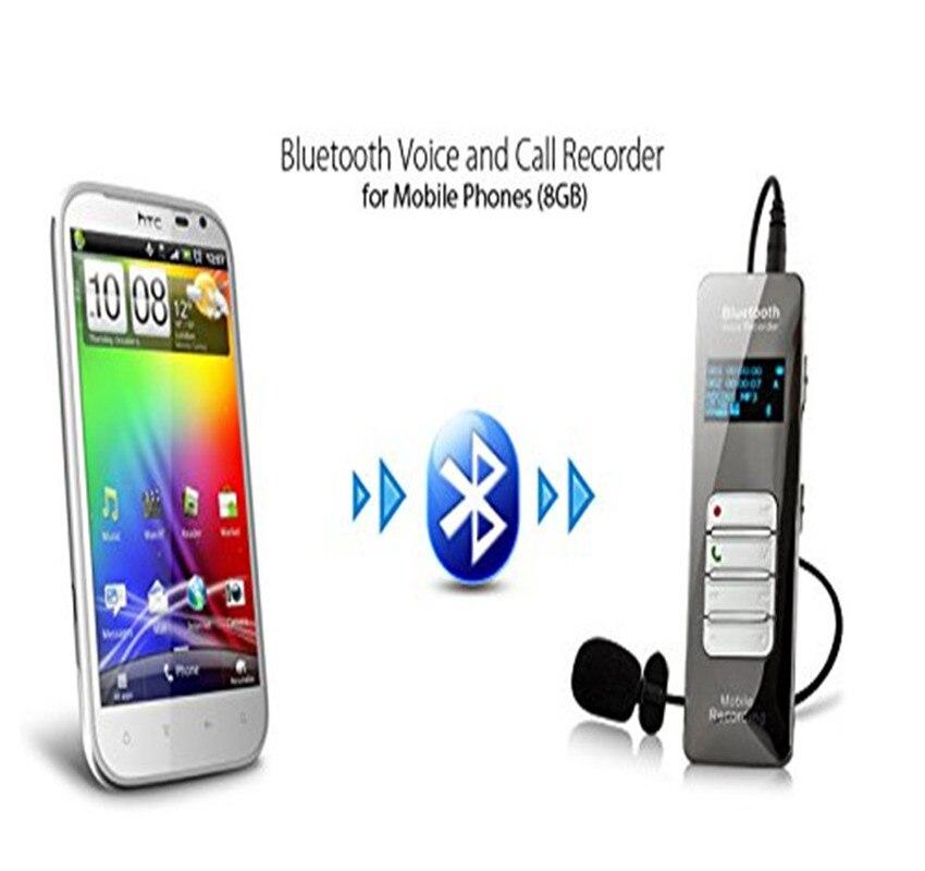Enregistreur vocal d'appel sans fil Bluetooth enregistrement Audio numérique activé Dictaphone avec prise en charge du Microphone 24 langues
