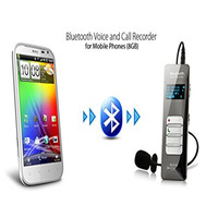 Wireless Bluetooth Call Voice Recorder Digital Activated Audio Sound Record Dictaphone with Microphone Support 24 languages