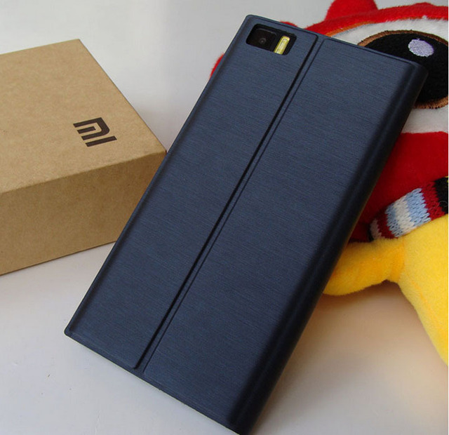 wholesale dealer b882d ed9ce US $7.89 |xiaomi m3 flip case 100% Original Xiaomi Mi3 Flip leather case  cover for xiaomi mi3 m3 Leather case for Mi3+1 screen protector on ...