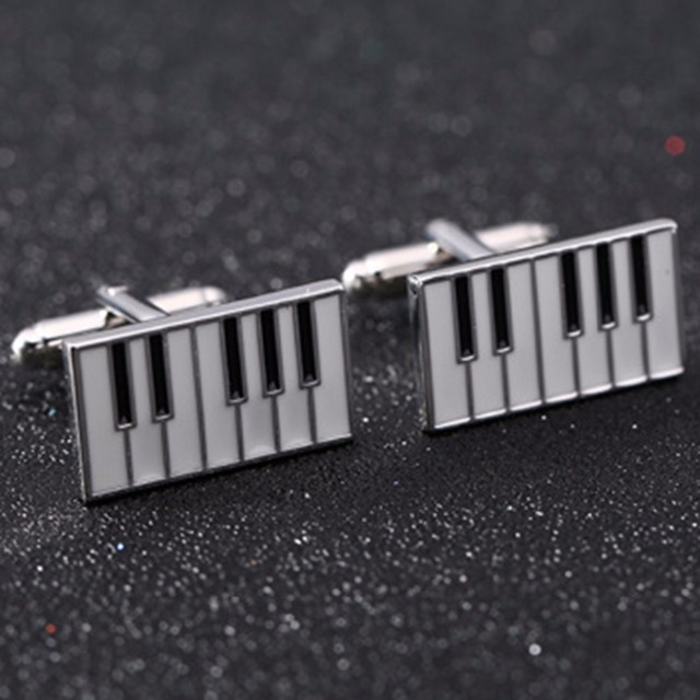 Vagula High Cuff Links Jewelry Musical Instrument Gemelos Designer Piano Cufflinks Ship 10129