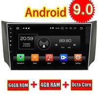 Topnavi Android 9,0 автомобилей медиа центр Авто плеер для Nissan Sylphy sentra 2012 2013 2014 2015 аудио радио gps навигации нет DVD