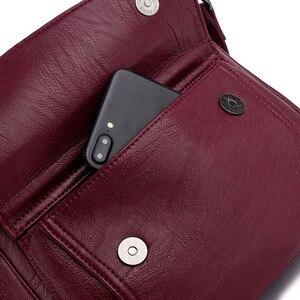 Image 4 - حقائب يد فاخرة للسيدات من الجلد بتصميم جديد لعام 2019 ، حقائب كتف كلاسيكية عبر الجسم للسيدات