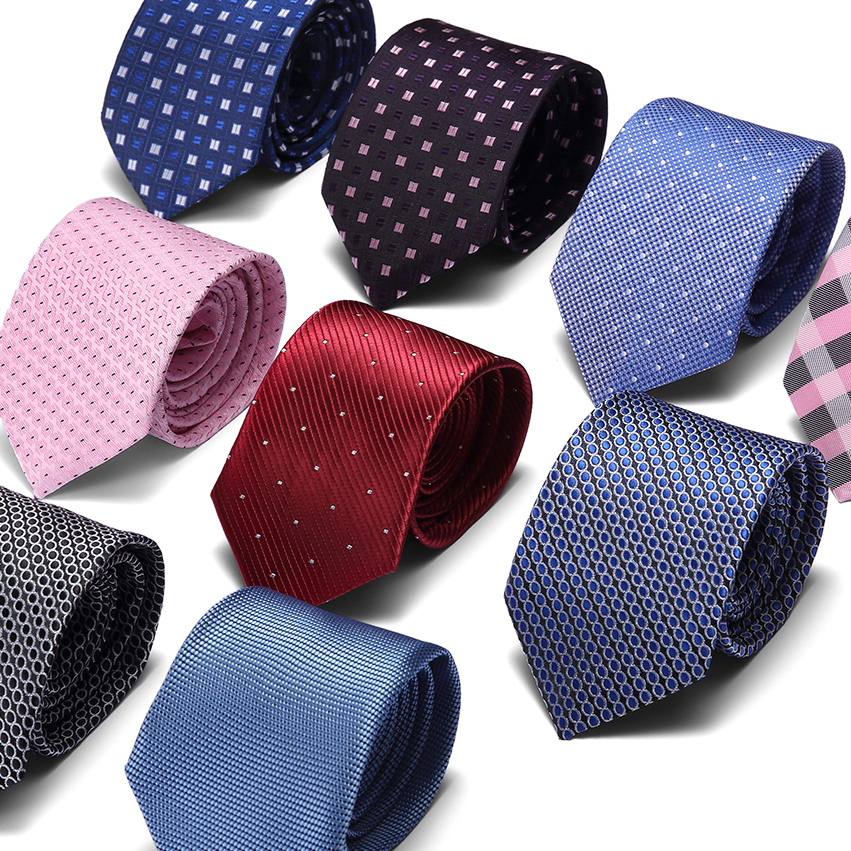Mens Ties New Brand Man Fashion Paisley Dot Neckties Gravata Jacquard 7.5cm Slim Tie Corbatas Hombre 2019 Wedding For Men