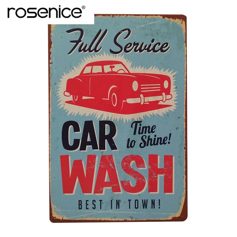 Full Service Car Wash Best In Town Vintage Retro Wall