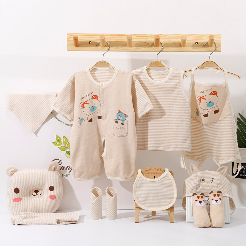 Intellective Newborn Baby Sets Cotton Clothes Summer Short Sleeve Clothing Suits Infant Underwear Outfits Bib 0-3 Month Boys Girls Gift Z116 Clothing Sets Mother & Kids