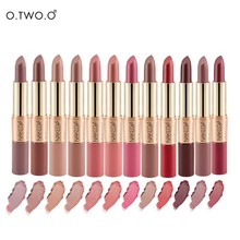 O.TWO.O   Nude Lipstick Makeup Velvet Matte Lipstick and Matte Lipgloss 2 in 1