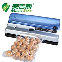 MAGIC SEAL Full automation Small Commercial Home Food Vacuum Sealer Packaging Machine with Vacuum Bag Built in Roll Cutter