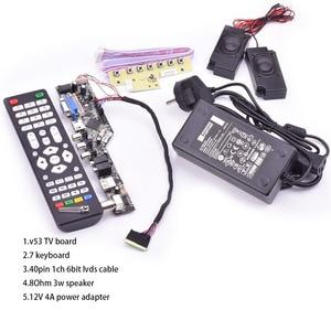 Image 2 - V53 universal TV lcd control board 10 42inch lvds driver board TV VGA AV HDMI USB DS.V53RL.BK full kit for LTN156AT01 A01