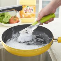 2pcs kitchen does not stick oil strong clean brush bowl long handle sink brush pot Multifunctional Cleaning Brush Kitchen