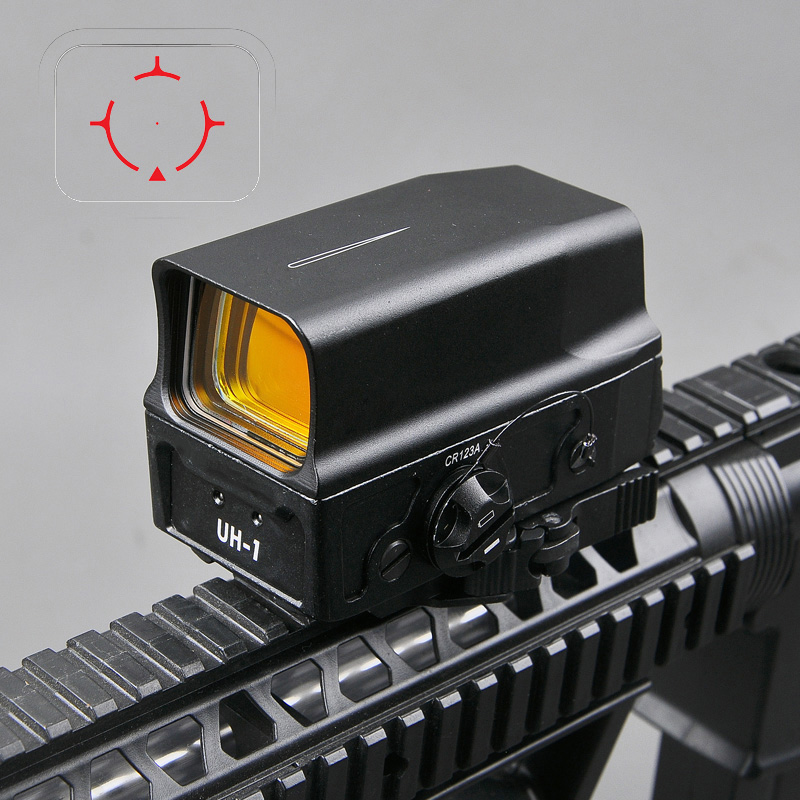 UH1 Tactical Red Dot Sight Scope Reflex Sight Holographic Red Dot Rifle Sight with USB Charge