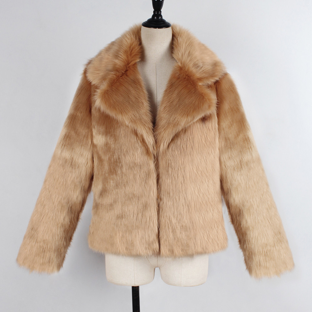 Hiver Revers D'hiver Chaud Chamarras Court A8 Fausse Veste Col Femmes Outercoat De Outwear Mujer Manteau En Fourrure zx5wYUq0