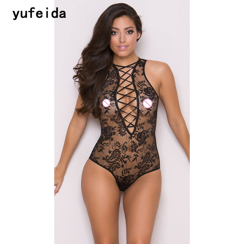 YUFEIDA Sexy Hot Erotic Womens Lace Onesies BodySuit Classic Porn American Lady Sex Product Erotic Costumes Underwear Clothes ...