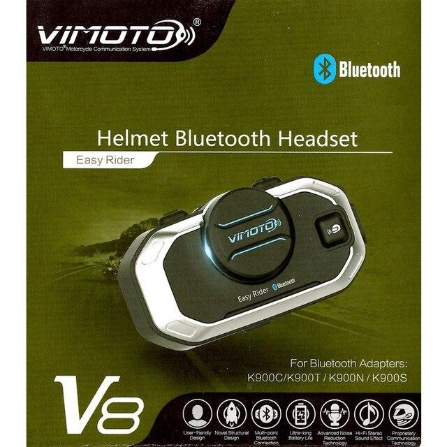 فيموتو النسخة الإنجليزية سهلة رايدر V8 متعددة الوظائف دراجة نارية BT البيني دراجة نارية خوذة إنترفون سماعة رأس بخاصية البلوتوث