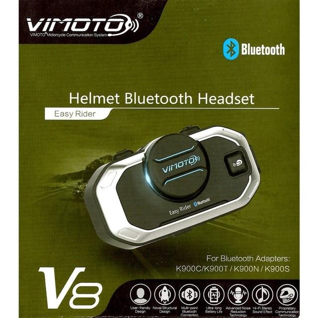 Vimoto English Version Easy Rider V8 Multi-functional Motorbike BT Interphone Motorcycle Helmet Intercom Bluetooth Headset