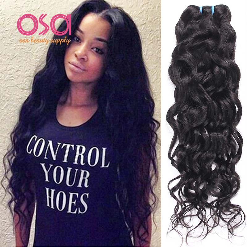 Osa Raw Indian Hair Indian Water Wave Ocean Wave Virgin Hair 4
