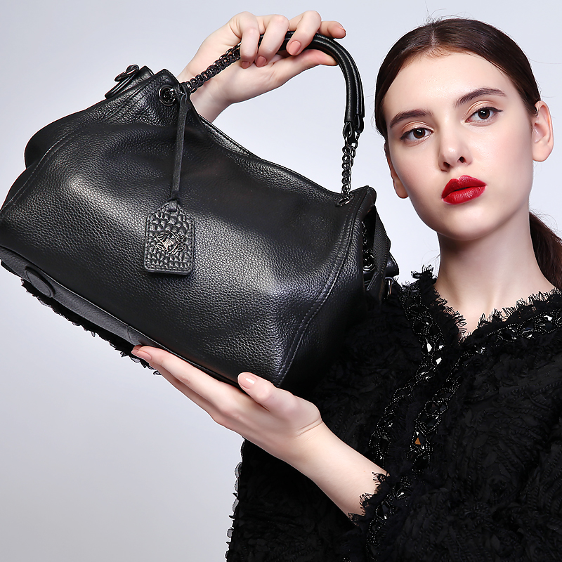 Lovakia Women Genuine Leather bag Top Handle Chains Handbag Classic Luxury Shoulder Bags Famous Brand Cowhide Bag Bolsa Feminina david vancura the chronicles of l j stevans book 1