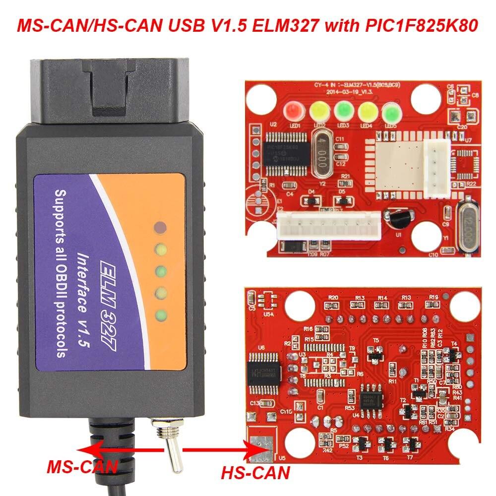 HTB16qs0aN2rK1RkSnhJq6ykdpXaY ELM 327 V1.5 PIC18F25K80 For FORScan ELM327 USB OBD2 Scanner CH430 HS CAN/MS CAN For Ford OBD 2 OBD2 Car Diagnostic Auto Tool