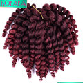 Havana Mambo Twist Crochet Braids Jumpy Wand Curl 8 Inch Jamaican Bounce Crochet Ombre Hair Extensions Jumpy Wand Curly Braiding