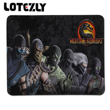 Top Selling Customized Mortal Kombat Games Mouse Laptop Computer PC Stitched Edge Mice Mat Anti-slip Gaming Mousepad