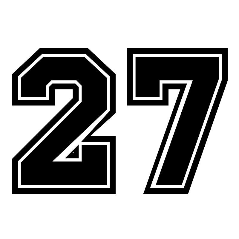 CK2936#30*20cm 22*15cmNumber 27 Funny Car Sticker Vinyl Decal Silver/black Car Auto Stickers For Car Bumper/rear Window