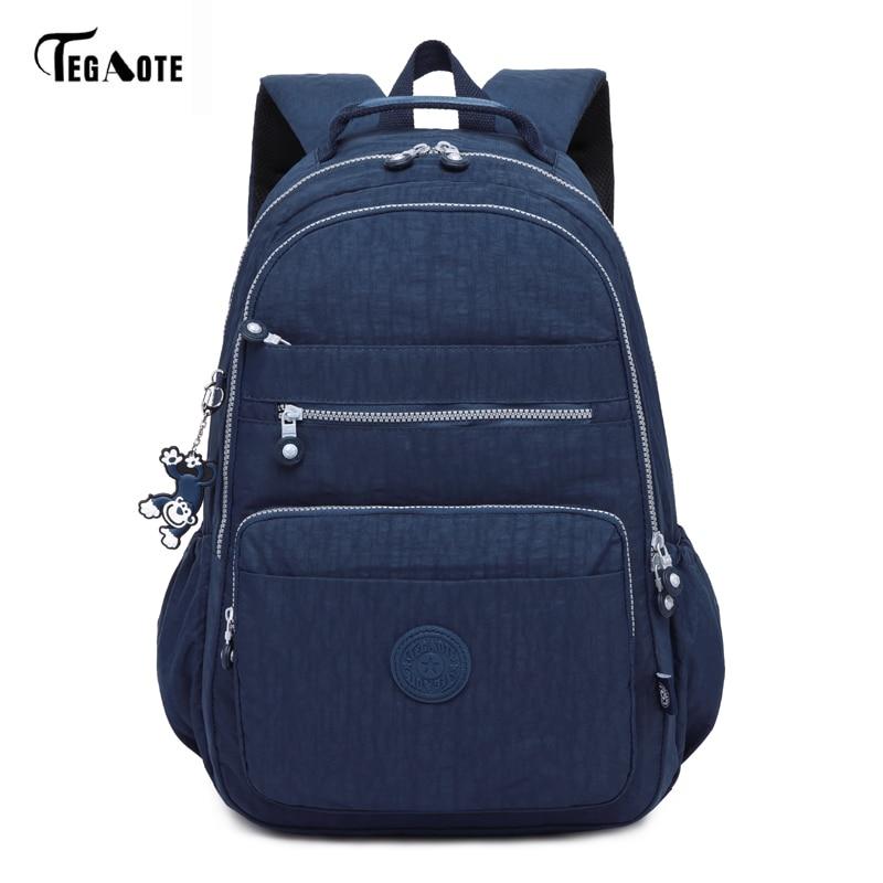 TEGAOTE Laptop Backpack Rucksack Travel-Bags Teenagers Nylon Multifunction Waterproof