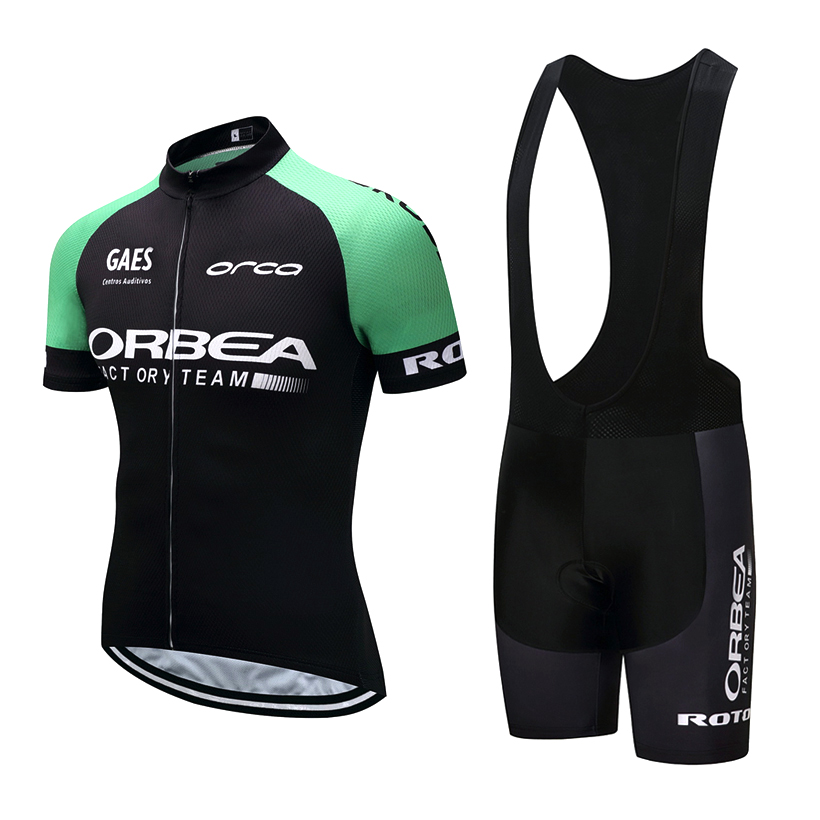 2018 ORBEA Cycling team Clothing Bike jersey Quick Dry Mens Bicycle clothes short sleeve pro Cycling Jerseys gel bike shorts set the source of bacteria
