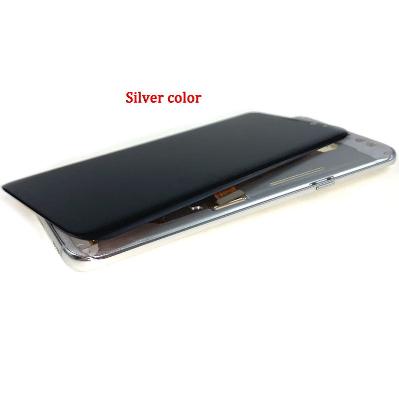 For-Samsung-Galaxy-S8-Plus-G955-LCD-SCREEN-WITH-FRAME-银色