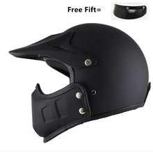 Half Open Face Motorcycle Helmet with  Detachable chin Scarf Biker Scooter Touring for Harley Personality helmet