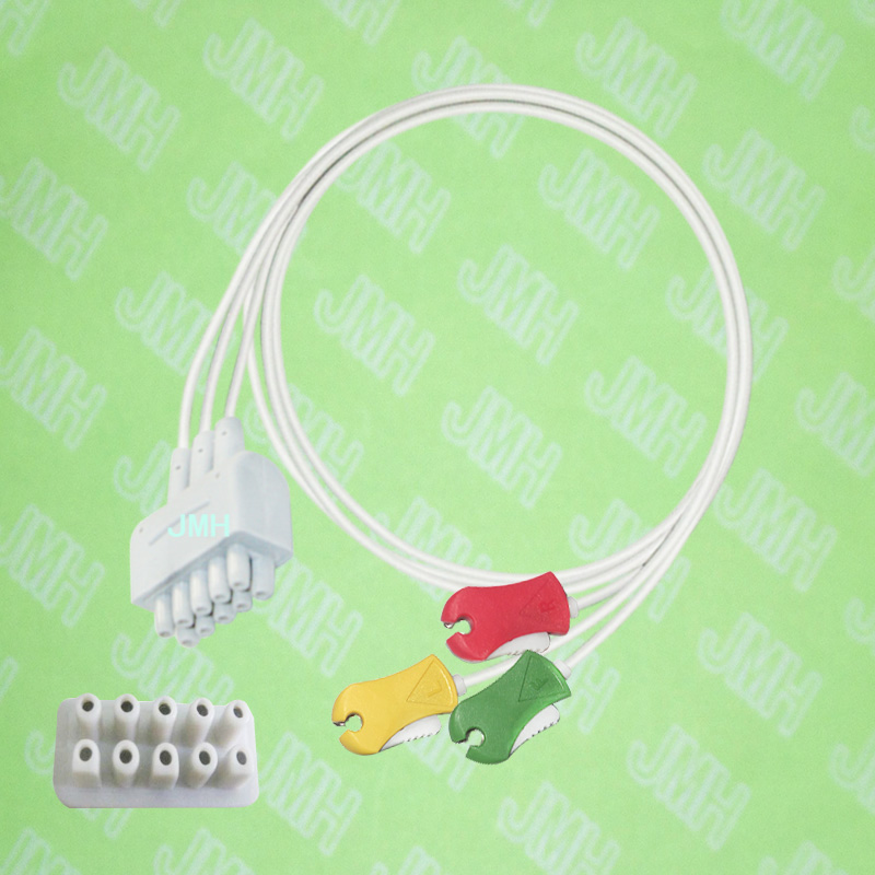 Compatible with GE EKG/ECG machine monitor the IEC 3 lead clip leadwires,76 cm.Compatible with GE EKG/ECG machine monitor the IEC 3 lead clip leadwires,76 cm.