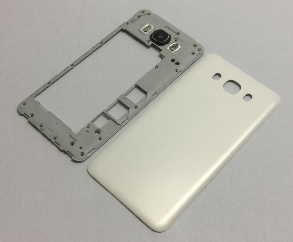 For Samsung Galaxy J7 2016 J710 SM-J710F J710M J710H J710FN Middle Plate Bezel Cover Frame + back Battery housing cover Rear Lid
