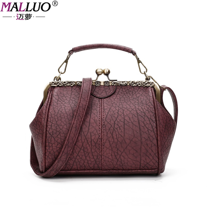 MALLUO Women Bags Vintage Leather Messenger Bag Handbags Women Famous Brands Clip Shoulder Bag New Arrive Ladies Crossbody Flap famous brand new 2017 women clutch bags messenger bag pu leather crossbody bags for women s shoulder bag handbags free shipping