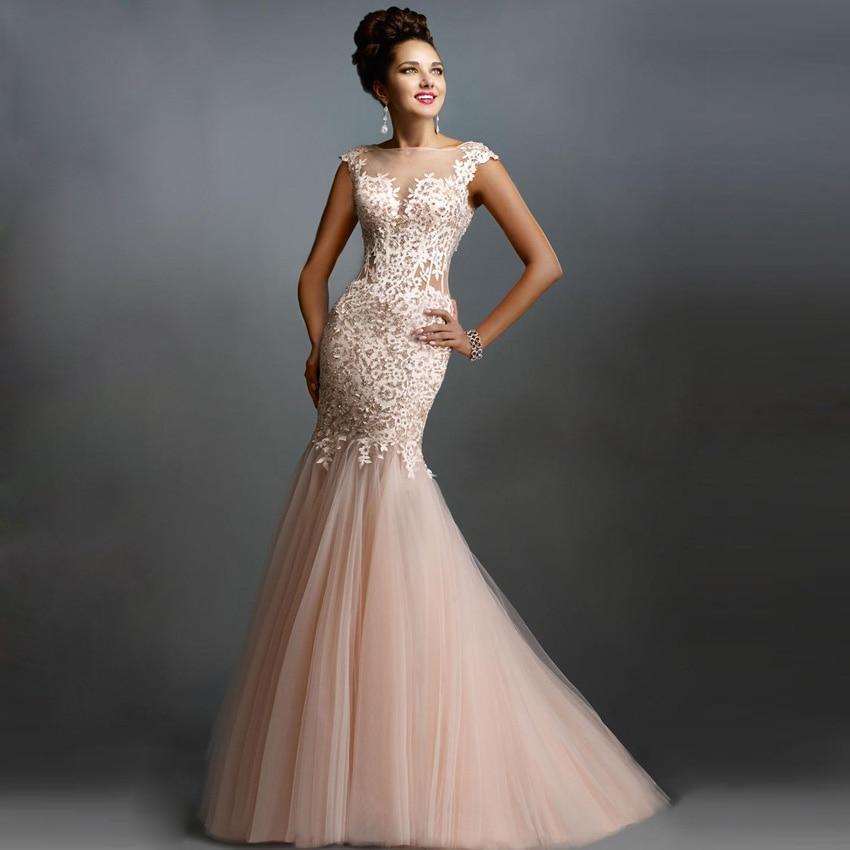 e455d4983a Sirena De La Del Elegante Largo Cordón 2016 Vestidos Sexy Baile H6XqTwpxn4