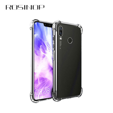 ROSINOP Anti-knock 4 Corner Airbag Transparent TPU Soft Case For huawei Mate 20 pro Lite Original Ultrathin Clear Cases Cover
